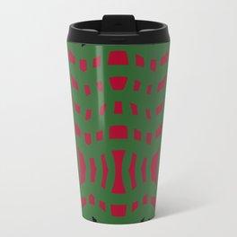 Christmas Plaid Green and Red Travel Mug