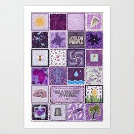 The Color Purple Quilt Art Print