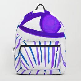 All Seeing Eye in Violet Purple Watercolor Backpack