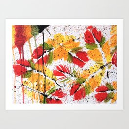 STRENGTH OF LIFE - Original abstract painting by HSIN LIN / HSIN LIN ART Art Print