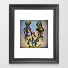 Spring Ferns Framed Art Print