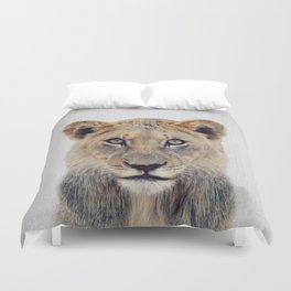 Lioness II - Colorful Duvet Cover