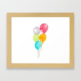 Balloons Painting Framed Art Print