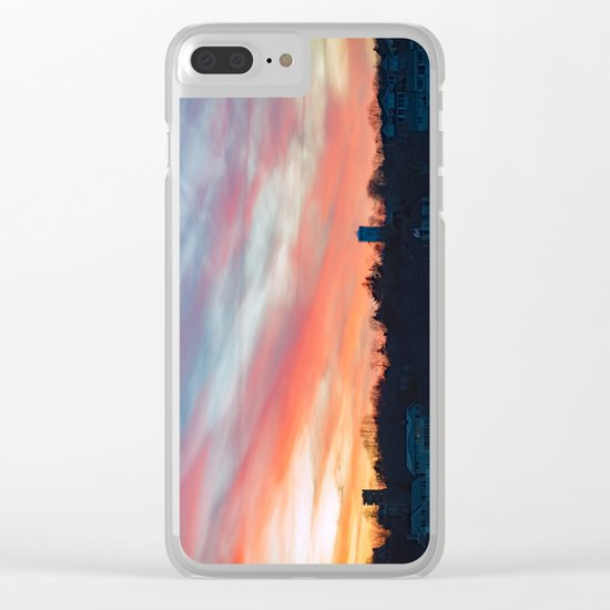 Winter sunset in Rockport Clear iPhone Case