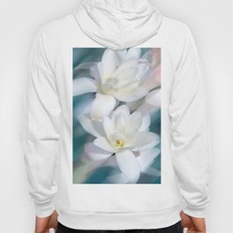 Flowers white macro 057 Hoody