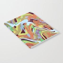 Abstract Music orange Conga Rhythm pattern Notebook