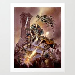 The Undead Strike Art Print