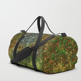 Old stone wall with moss Duffle Bag