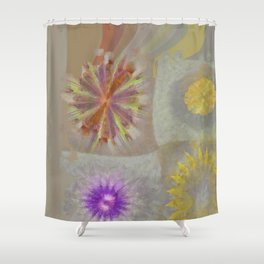 Anticapitalistically Combination Flower  ID:16165-030023-59450 Shower Curtain