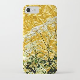 GOLDEN LACE FLOWERS FROM SOCIETY6 BY SHARLESART. iPhone Case