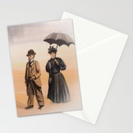 Victorian's Day at the Beach Stationery Cards
