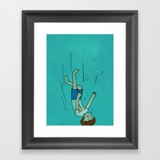 Down deep Framed Art Print