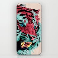 tiger iPhone & iPod Skins featuring Tiger by Roland Banrevi