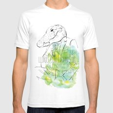 Lloras con lágrimas de cocodrilo (you cry with cocodrile tears) Mens Fitted Tee White SMALL