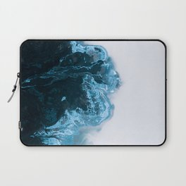 Abstract Aerial Lake in Iceland – Minimalist Landscape Photography Laptop Sleeve