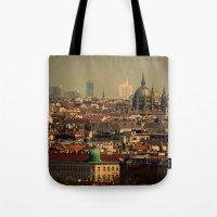 vienna Tote Bags featuring Vienna 06 by MehrFarbeimLeben