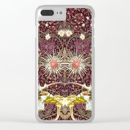 Honeysuckle and Thistles Pattern Clear iPhone Case