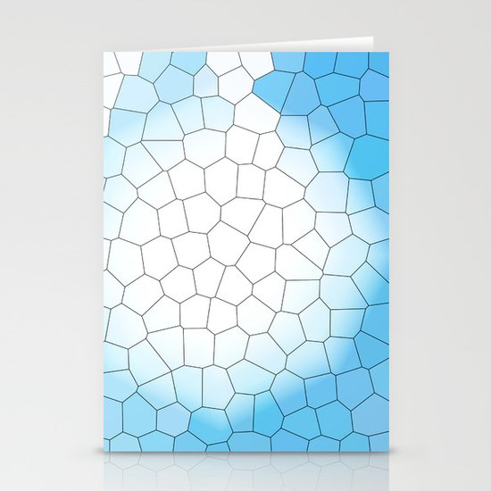 IRREGULAR LIGHT BLUE Stationery Cards