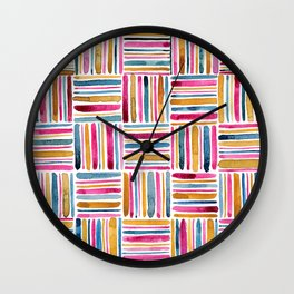 Sea of Stripes Wall Clock