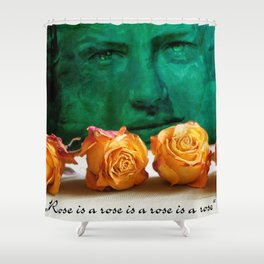 ROSE - quote Shower Curtain