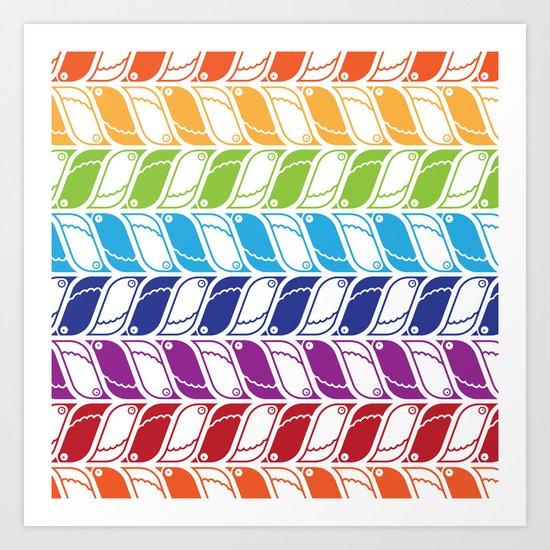 The Pattern of Tiny Beaks Art Print