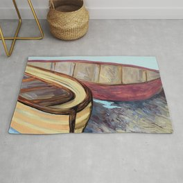 Boats on the Bank Rug