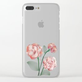 Line roses 1 Clear iPhone Case