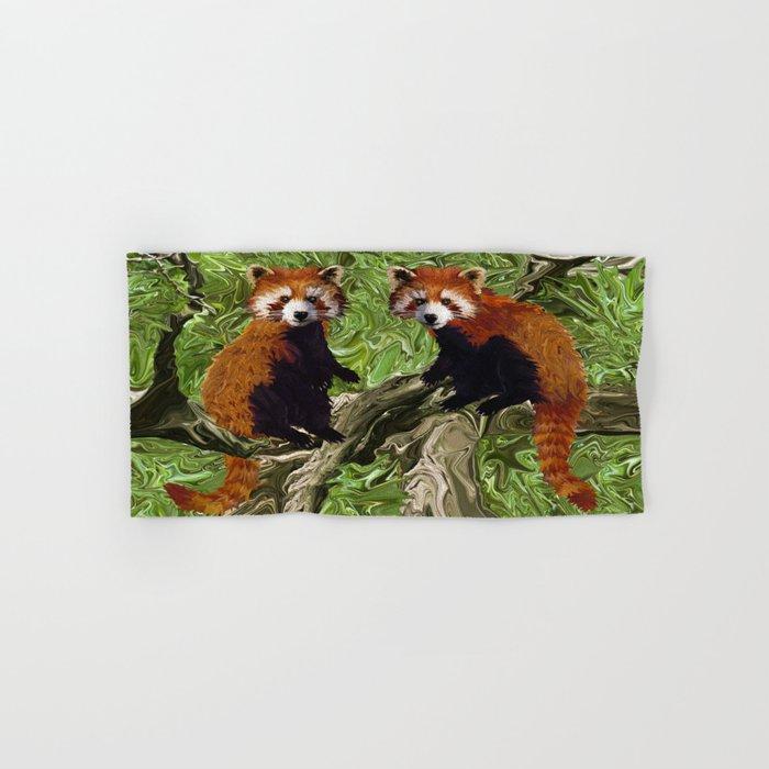 Frolicking Red Pandas Hand & Bath Towel