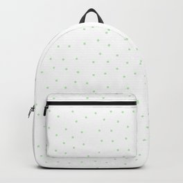 Simple Christmas seamless pattern Green Mint Confetti on White Background Backpack