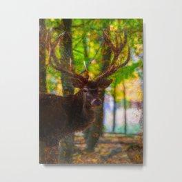 The deer stag by Brian Vegas Metal Print