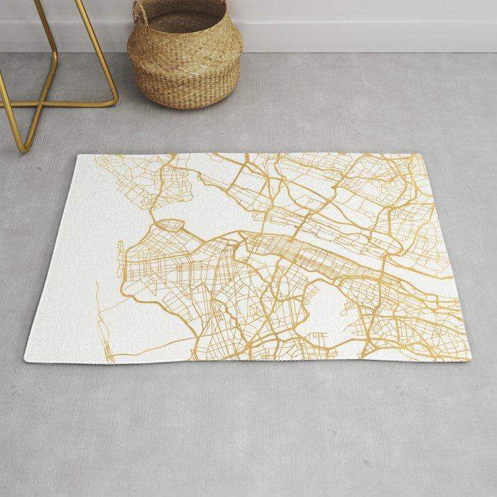 NEW YORK CITY NEW YORK CITY STREET MAP ART Rug