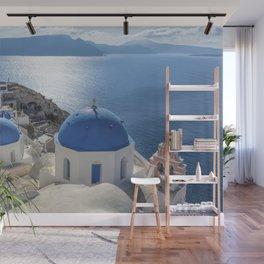 Santorini island in Greece Wall Mural