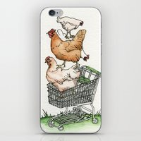 shopping iPhone & iPod Skins featuring Shopping by Miranda Currie