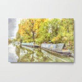 Little Venice London Autumn Art Metal Print