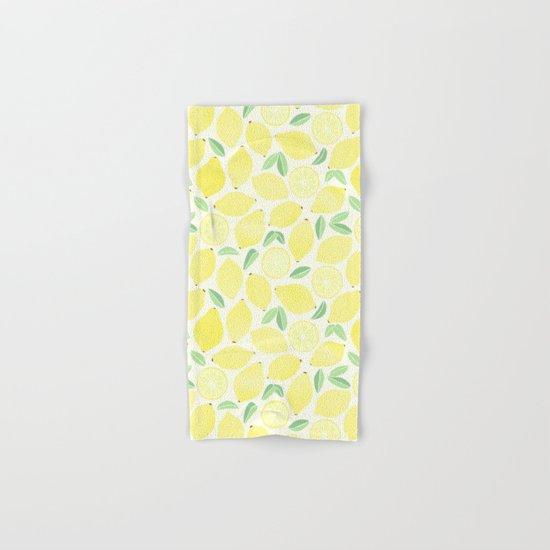 Summer Lemons Hand & Bath Towel