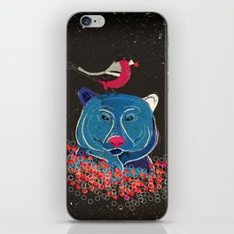 Bullfinch and bear iPhone Skin