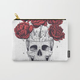 Skull with peonies Carry-All Pouch