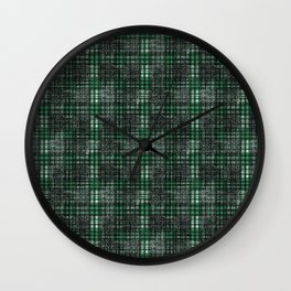 Classical black and emerald cell. Wall Clock
