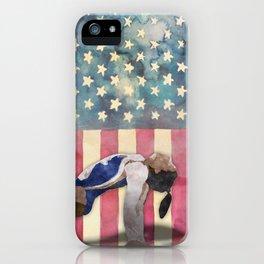 All American Gymnast Watercolor iPhone Case