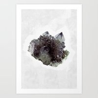 mineral Art Prints featuring Mineral by .eg.