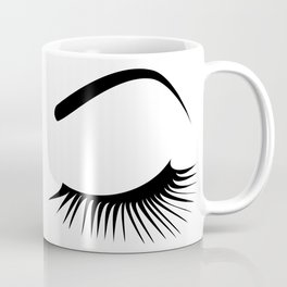 Closed Eyelashes Left Eye Coffee Mug