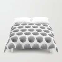 polkadot Duvet Covers featuring Watercolour polkadot black by Mouseblossom