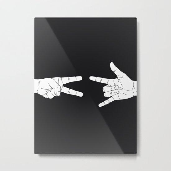 Peace Love and Rock N Roll Metal Print