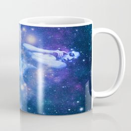 Blue Galaxy Woman : Nude Art Coffee Mug