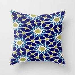 Blue & Green Mosaic Pattern Throw Pillow