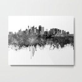 Sydney v2 skyline in watercolor Metal Print