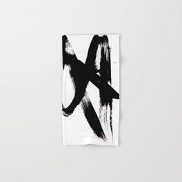 Brushstroke 2 - simple black and white Hand & Bath Towel
