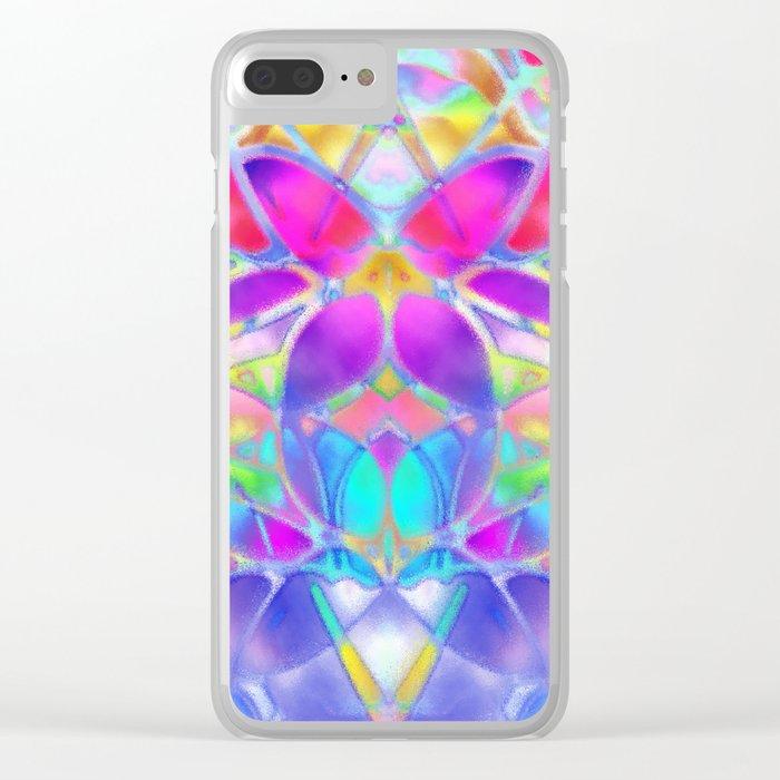 Floral Fractal Art G307 Clear iPhone Case
