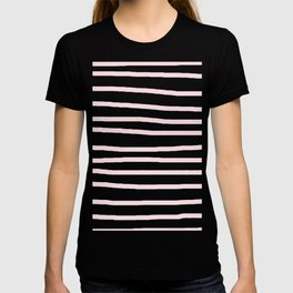 Simply Drawn Stripes in Pink Flamingo T-shirt