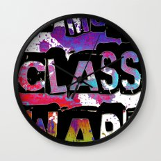 NO MORE CLASS WAR Wall Clock